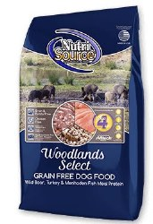 Nutrisource Grain Free Woodlands Select Wild Boar Turkey and Menhaded Fish Meal Protein Dry Dog Food 15lb