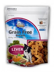 Nutrisource Crunchy Grain Free Liver Biscuits Flavor With Fruits and Vegetables 14oz