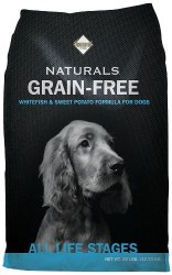 Diamond Naturals Grain Free Whitefish and Sweet Potato Formula Dry Dog Food 28lb
