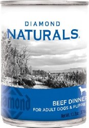 Diamond Naturals Beef Dinner Adult and Puppy Canned Dog Food 13.2oz