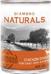 Diamond Naturals Chicken Dinner Adult and Puppy Canned Dog Food 13.2oz