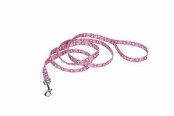 Skull/Crossbones Pink Leash6Ft