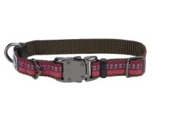 Small Reflective Adjustable Collar 5/8 Inch x 10-14 Inch Berry
