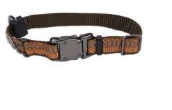 Small Reflective Adjustable Collar 5/8 Inch x 10-14 Inch Campfire Orange