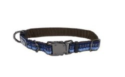 Small Reflective Adjustable Collar 5/8 Inch x 10-14 Inch Sapphire