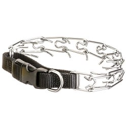 Easy On Nylon Prong Pinch Training Collar With Buckle 18 Inch Black