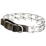 Easy On Nylon Prong Pinch Training Collar With Buckle 20 Inch Black