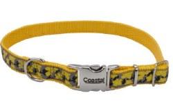 Ribbon Nylon Adjustable Collar 5/8 Inch x 12 Inch Yellow Buttercup