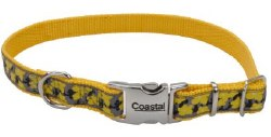 Ribbon Nylon Adjustable Collar 5/8 Inch x 18 Inch Yellow Buttercup