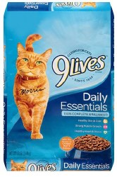 9lives Daily Essentials with Chicken Beef & Salmon Flavor Dry Cat Food 12lb