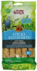 Living World Budgies Honey Treat Sticks 2oz 5 Pack
