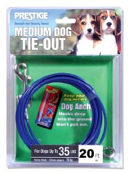 Prestige 20ft Medium Dog Tie Out upto 35lbs