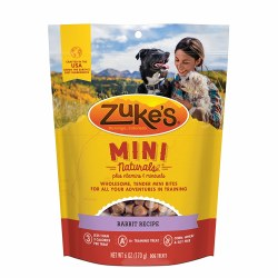 Zuke's Mini Naturals Rabbit Recipe Dog Treats 6oz Bag