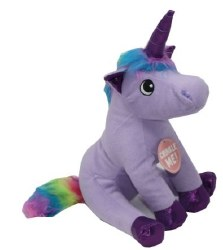 Snugz Rainbow The Unicorn Plush Dog Toy