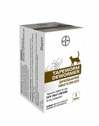 Bayer Tapeworn Dewormer Cat 3 Count