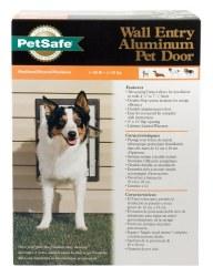 PetSafe Aluminum Wall Entry Pet Door with Telescoping Tunnel Medium Upto 40lbs