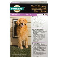 PetSafe Aluminum Wall Entry Pet Door with Telescoping Tunnel Large Upto 100lbs
