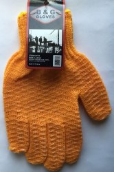 Golden Honeycombed Grippers Work Gloves