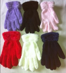 Fuzzy Magic Gloves With A Feathery Cuff