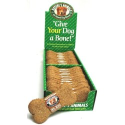 Natures Animals Gourmet Peanut Butter Dog Biscuit Single 4 Inch