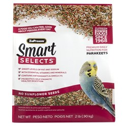 ZuPreem Smart Selects Parakeet Bird Food 2lb bag