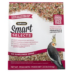 ZuPreem Smart Selects Cockatiel & Lovebird Bird Food 2.5lb bag