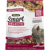 ZuPreem Smart Selects Parrot & Conure Bird Food 4lb bag