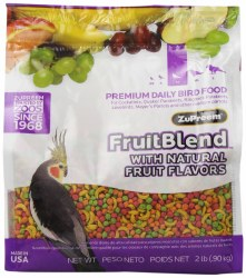 ZuPreem FruitBlend with Natural Fruit Flavors Medium Bird Food 2lb