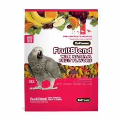 ZuPreem FruitBlend with Natural Fruit Flavors Parrot & Conure Bird Food 12lb