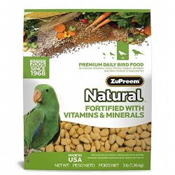 ZuPreem Natural with Vitamins Minerals & Amino Acids Parrot & Conure Bird Food 3lb bag