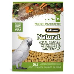 ZuPreem Natural with Vitamins, Minerals & Amino Acids Large Bird Food 3lb bag
