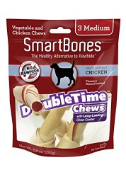 Smartbone DoubleTime Rolls with Long-Lasting Chew Center Chicken Flavored Medium 3 Pack Dog Chews