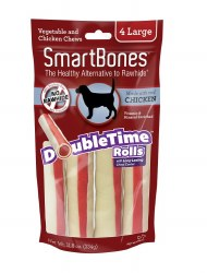 Smartbone DoubleTime Rolls with Long-Lasting Chew Center Large 4 pack