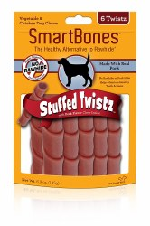 Smartbones 6 Pack Stuffed With Pork Twists Rawhide Free Dog Chews