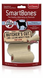 SmartBones Butcher's Cut Long-Lasting Mighty Chew Small 4 pack