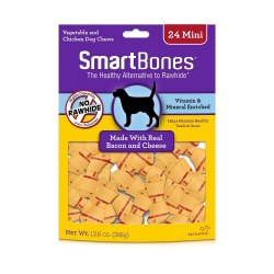 Smartbones Bacon And Cheese Mine 24 Pack Rawhide Free Dog Trerats