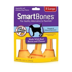 Smartbones Bacon And Cheese Large 3 pack Rawhide Free Dog Treats