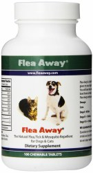 Flea Away Flea Tick And Mosquito Reppelant For Dogs And Cats 100 Count
