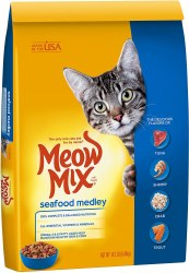 Meow Mix Seafood Medley Dry Cat Food 14.2lb