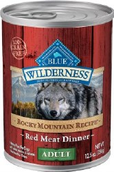 Blue Buffalo Wilderness Rocky Mountain Recipe Red Meat Dinner Adult Grain Free Canned Dog Food 12.5oz
