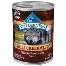 Blue Buffalo Wilderness Wolf Creek Stew Hearty Beef Stew Grain Free Adult Canned Dog Food 12.5oz