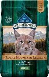 Blue Buffalo Wilderness Rocky Mountain Recipe with Trout Adult Grain Free Dry Cat Food 10lb