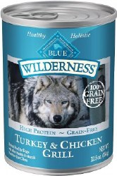 Blue Buffalo Wilderness Turkey and Chicken Grill Grain Free Canned Dog Food 12.5oz