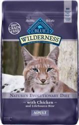Blue Buffalo Wilderness Chicken Recipe Grain Free Dry Cat Food 12lb