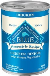 Blue Buffalo Homestyle Recipe Chicken Dinner with Garden Vegetables and Brown Rice Canned Dog Food 12.5oz