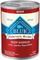 Blue Buffalo Homestyle Recipe Beef Dinner with Garden Vegetables and Sweet Potatoes Canned Dog Food 12.5oz