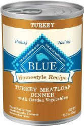 Blue Buffalo Homestyle Recipe Turkey Meatloaf Dinner with Garden Vegetables Canned Dog Food 12.5oz