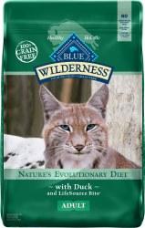Blue Buffalo Wilderness Duck Recipe Grain Free Dry Cat Food 5lb