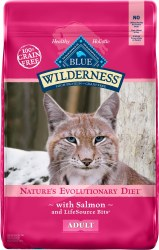 Blue Buffalo Wilderness Salmon Recipe Grain Free Adult Dry Cat Food 11lb