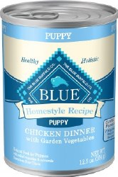 Blue Buffalo Homestyle Recipe Puppy Chicken Dinner with Garden Vegetables Canned Dog Food 12.5oz